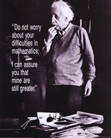 Einstein - Do Not Worry Fine Art Print