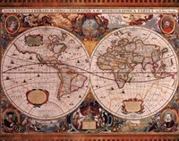 Map - Geographica Fine Art Print