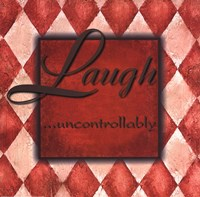 WTLB, Harlequin Orange.Laugh uncontrollably Fine Art Print