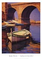 Reflejos de Marsella I Framed Print