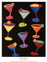 Midnight Martinis Framed Print