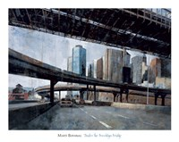 Under the Brooklyn Bridge Framed Print