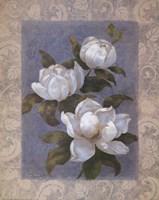 Blue Magnolias I Fine Art Print