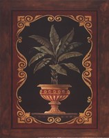 Golden Palm - petite Framed Print