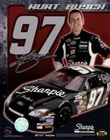 2006 Kurt Busch collage- car, number, driver and signature Fine Art Print