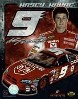 2006 Kasey Kahne collage- car, number, driver and signature Framed Print