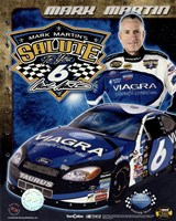 2006 Mark Martin collage- car, number, driver and signature Framed Print