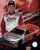 2005 Sterling Marlin collage- car, number, driver and signature Framed Print