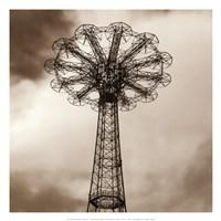 Parachute Jump Framed Print