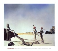 Three Young Surrealist Women Holding in their Arms the Skins of an Orchestra, c.1936 Fine Art Print