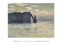 The Cliff, Etretat, Sunset, 1883 Fine Art Print