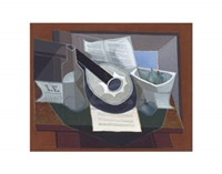 Still Life with a Guitar, 1925 Fine Art Print