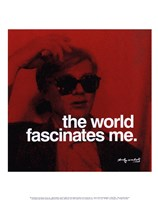 The world fascinates me Framed Print
