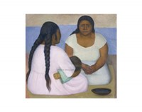 Two Women and a Child Fine Art Print