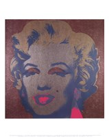 Marilyn, 1967 (on silver ground) Fine Art Print