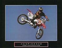 Confidence  Motorbiker Fine Art Print