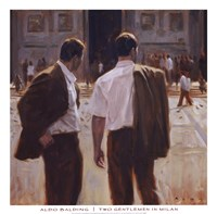 Two Gentlemen in Milan Fine Art Print