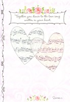 Anniversary Hearts Musical Notes Greeting Card