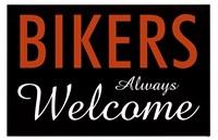 Bikers Always Welcome Fine Art Print
