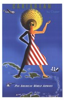 Panam Caribbean Travel Poster Fine Art Print