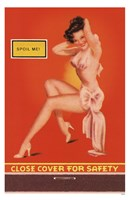 Spoil Me Pin-Up Framed Print