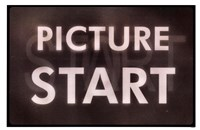 Film Leader Picture Start Framed Print