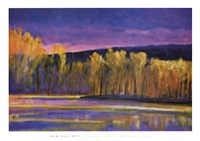 Yellow Trees, Yellow Lake Fine Art Print