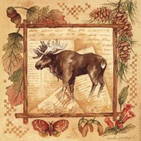 Moose - square Fine Art Print