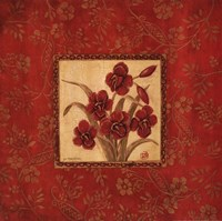Orchids In Red Fine Art Print