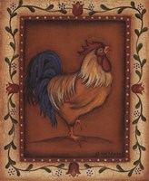 Gold Rooster Framed Print