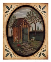 His Outhouse Fine Art Print