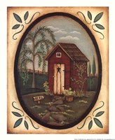 Her Outhouse Fine Art Print