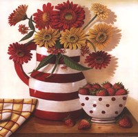 Strawberries in a Bowl Fine Art Print
