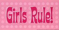 Girls Rule! Fine Art Print