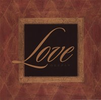 Love Deeply Framed Print