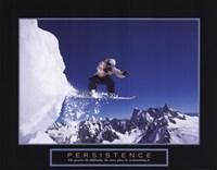 Persistence - Snowboarder Fine Art Print