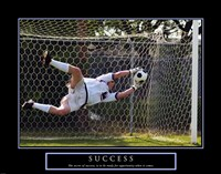 Success - Soccer Framed Print