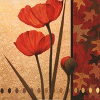 Poppy Red Damasque Fine Art Print