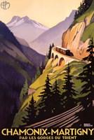 Chamonix-Martigny Framed Print