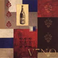 Vino in Blue I Fine Art Print