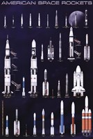American Space Rockets Fine Art Print