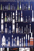 International Space Rockets Fine Art Print