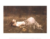 Ophelia (lying in the meadow), 1905 Fine Art Print