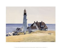 Lighthouse and Buildings, Portland Head, Cape Elizabeth, Maine, 1927 Framed Print