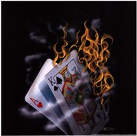 Burning Blackjack Framed Print