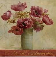 Jardin d'Anemones Fine Art Print
