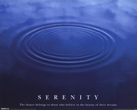 Serenity - water Wall Poster