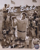 Babe Ruth - Legends Of The Game Composite Fine Art Print