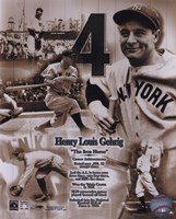 Lou Gehrig - Legends of the Game Composite Fine Art Print