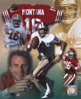 Joe Montana - Legends of the Game Composite Fine Art Print